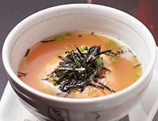 おこげスープ【焼おにぎり鳥スープ仕立て】